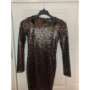 Nasty Gal Long Sleeve Sequin Dress.